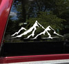 Mountains Skyline V1 Vinyl Decal - Hiking Camping - Die Cut Sticker
