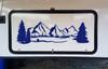 Mountains Forest Scene Vinyl Decal V6 - Camper RV Travel Trailer Graphics 4x4 - Die Cut Sticker