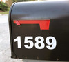"""Reflective Mailbox Numbers 1""""-10"""" tall with Style Options - Vinyl Decal - House Address Store Office High Visibility - Die Cut Sticker"""