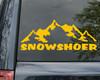 Snowshoer Vinyl Decal - Mountains Trail - Die Cut Sticker