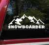 Snowboarder Vinyl Decal V2 - Mountains Snow Sport - Die Cut Sticker