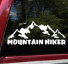 Mountain Hiker Vinyl Decal - Trail Hiking Camping - Die Cut Sticker