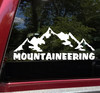 Mountaineering Vinyl Decal - Hiking Camping Mountains - Die Cut Sticker
