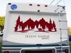 Bears Forest Trees Scene V1 Vinyl Decal - RV Camper Graphics Travel Trailer - Die Cut Sticker