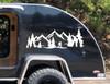 Bigfoot Mountain Forest Scene V8 - Camper RV Graphics Travel Trailer - Die Cut Sticker