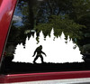 Bigfoot in Treeline V5 Vinyl Decal - Pine Trees Forest PNW Sasquatch - Die Cut Sticker