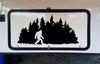 Bigfoot in Treeline V6 Vinyl Decal - Pine Trees Forest PNW Sasquatch - Die Cut Sticker