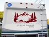 ATV Mountains Scene Vinyl Decal V2 - Quad RV Toy Hauler Graphics 4-wheeler  - Die Cut Sticker