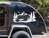 T-Rex Mountains Scene Vinyl Decal V2 - Pterodactyl Dinosaur RV Travel Trailer - Die Cut Sticker