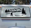 Bigfoot Mountains Forest Scenery V10 - PNW RV Graphics Camper - Die Cut Sticker