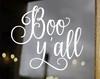 Boo Y'all Vinyl Decal - Halloween Decoration - Die Cut Sticker