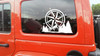 Compass Mountain Forest Scene V2 - Camping RV Graphics Scenery - Die Cut Sticker