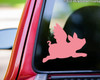 """Flying Pig vinyl decal sticker 5"""" x 4.5"""" Wings - When Pigs Fly"""