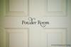 POWDER ROOM Vinyl Sticker - Bathroom Restroom Toilet Door - Home Decor - Die Cut Decal - Swash