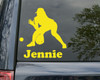 """Softball Infielder Vinyl Decal Sticker with Custom Personalized Name 15 """" x 15"""""""