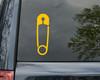 Safety Pin Vinyl Decal - Die Cut Sticker