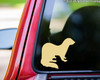 "Ferret vinyl decal sticker 5"" x 4.5"" Polecat"