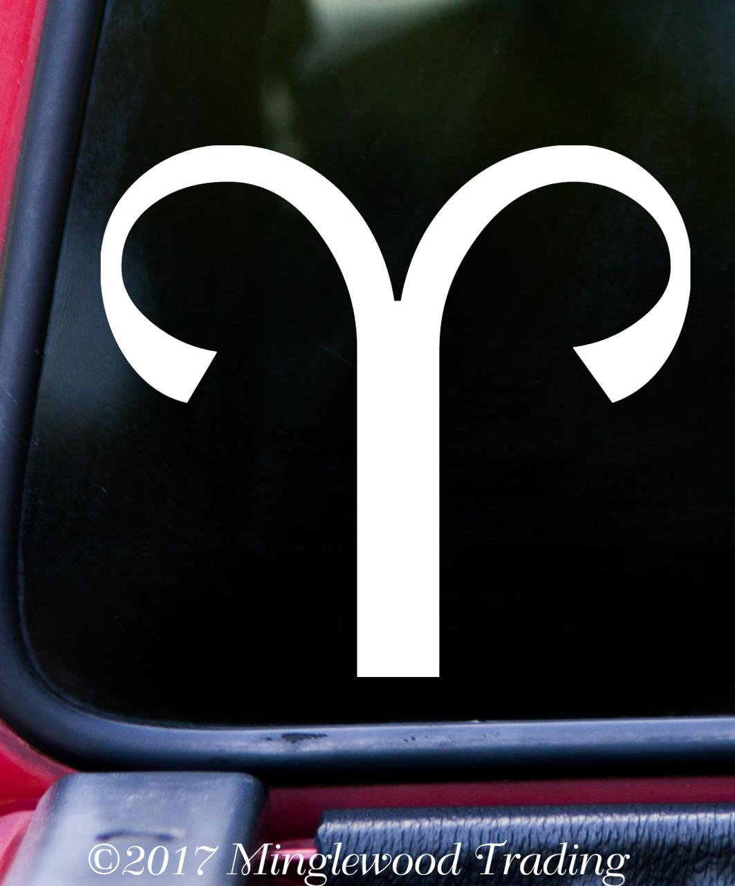 Aries Vinyl Decal - Astrology Zodiac Sign Fire Ram - Die Cut Sticker