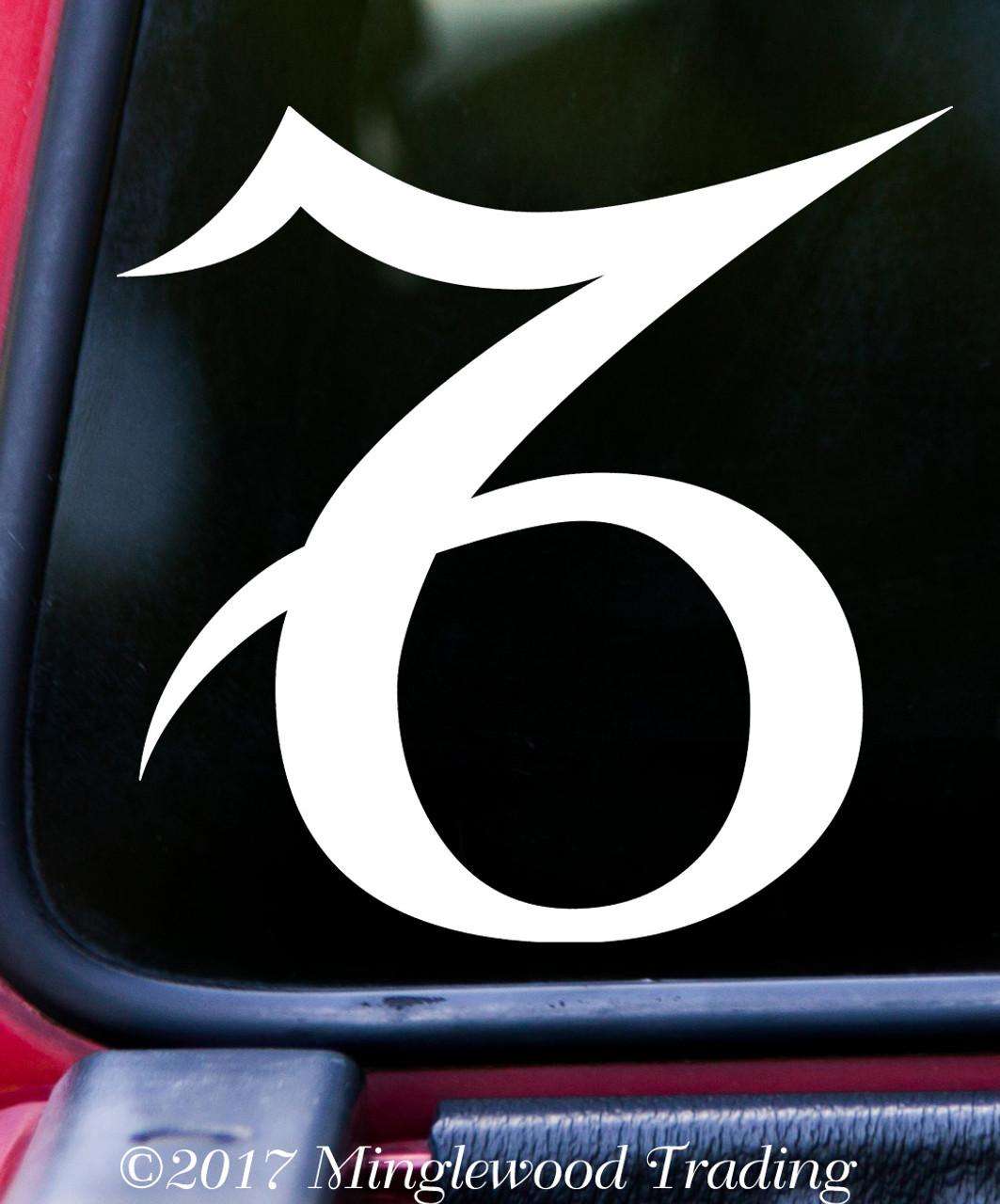 Capricorn Vinyl Decal - Astrology Zodiac Sign Earth The Sea-Goat - Die Cut Sticker