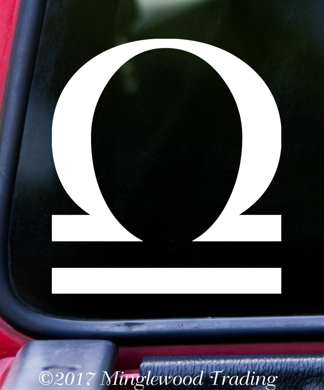 LIBRA Vinyl Decal -Astrology Zodiac Sign Air The Scales - Die Cut Sticker