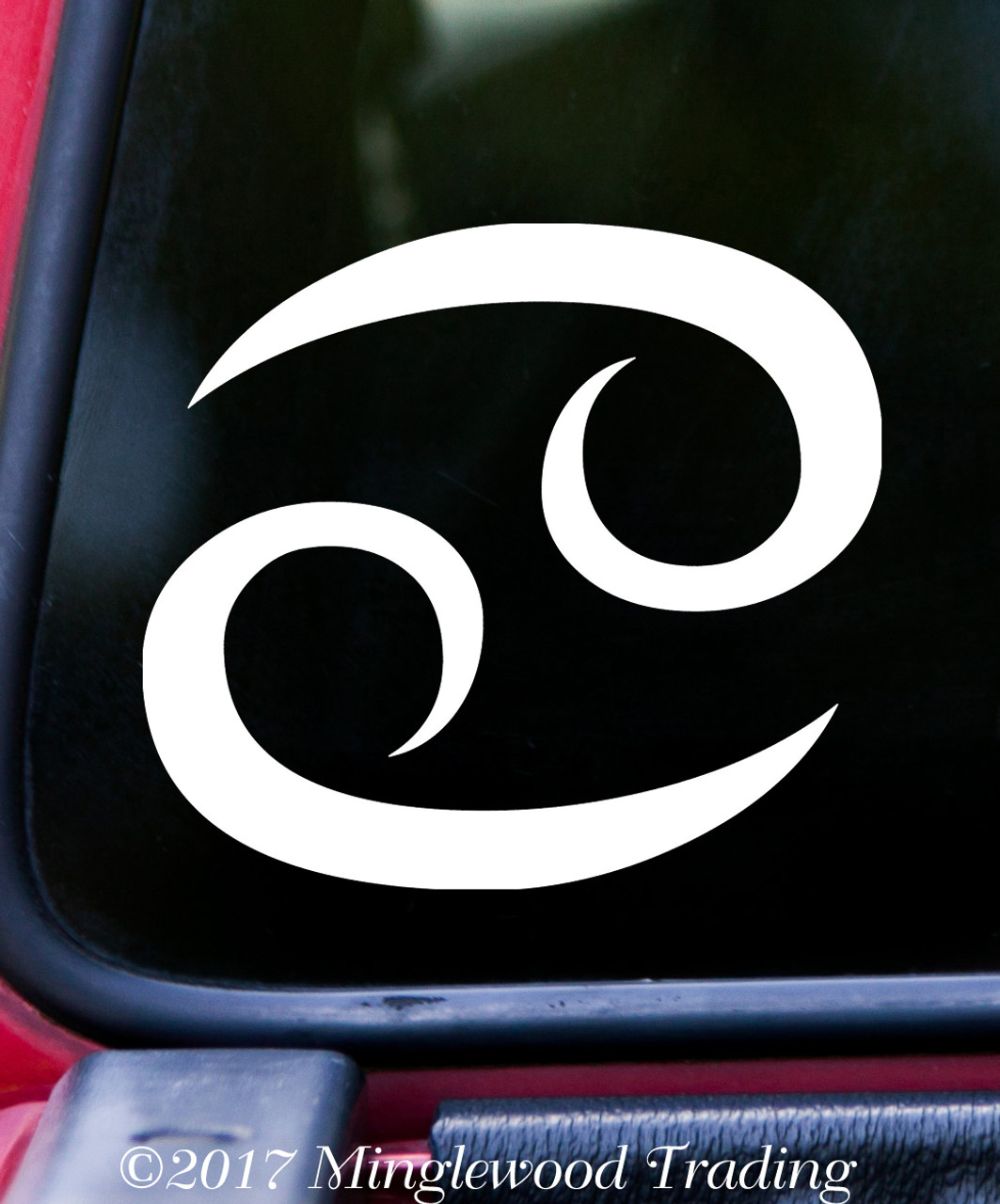 CANCER Vinyl Decal -Astrology Zodiac Sign Water The Crab - Die Cut Sticker