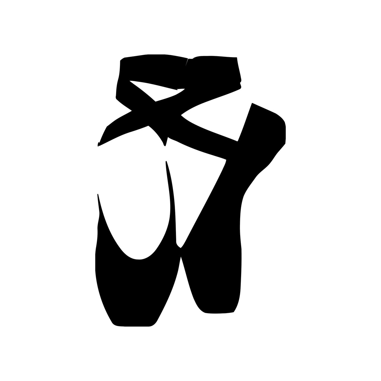 Ballet Shoes Vinyl Decal Sticker Ballerina Pointe Dance Slippers Minglewood Trading