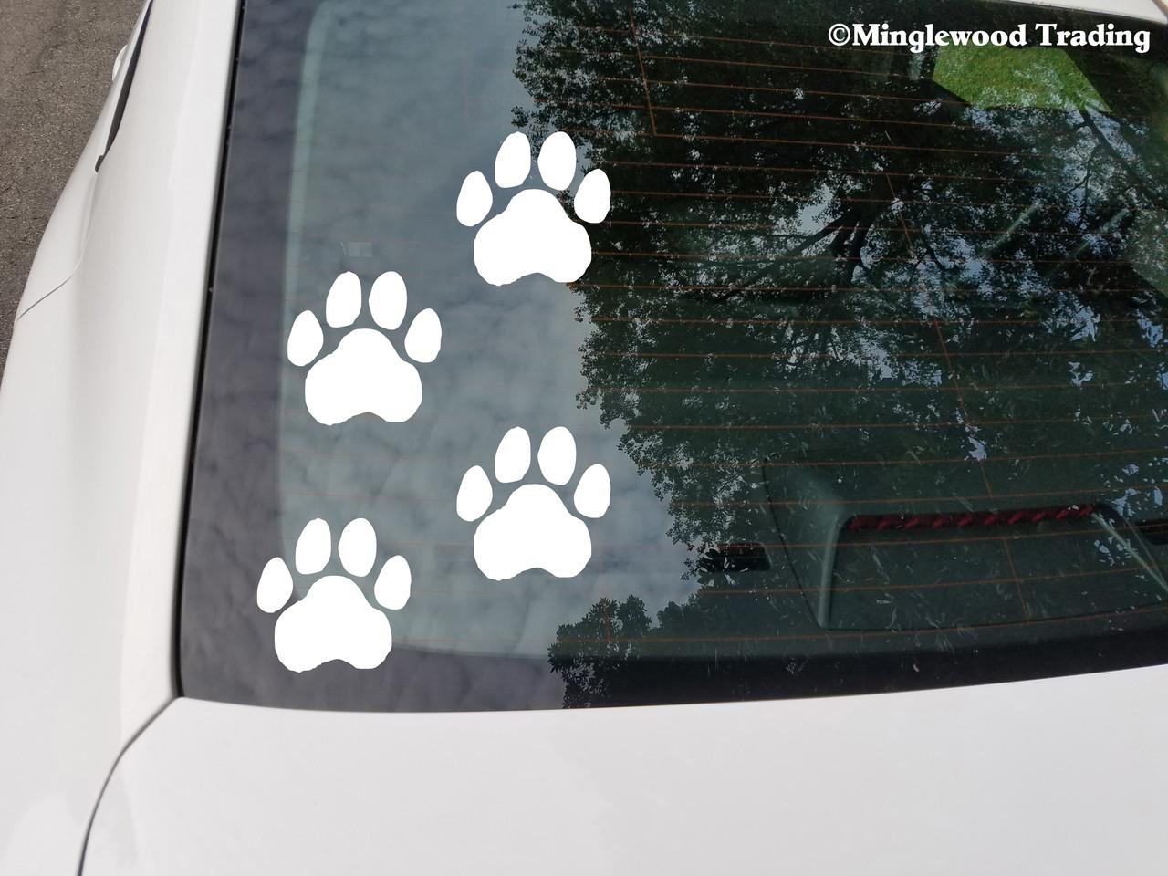 Jeep Dog Paw dog window vinyl decal Stickers Puppy Paw K9