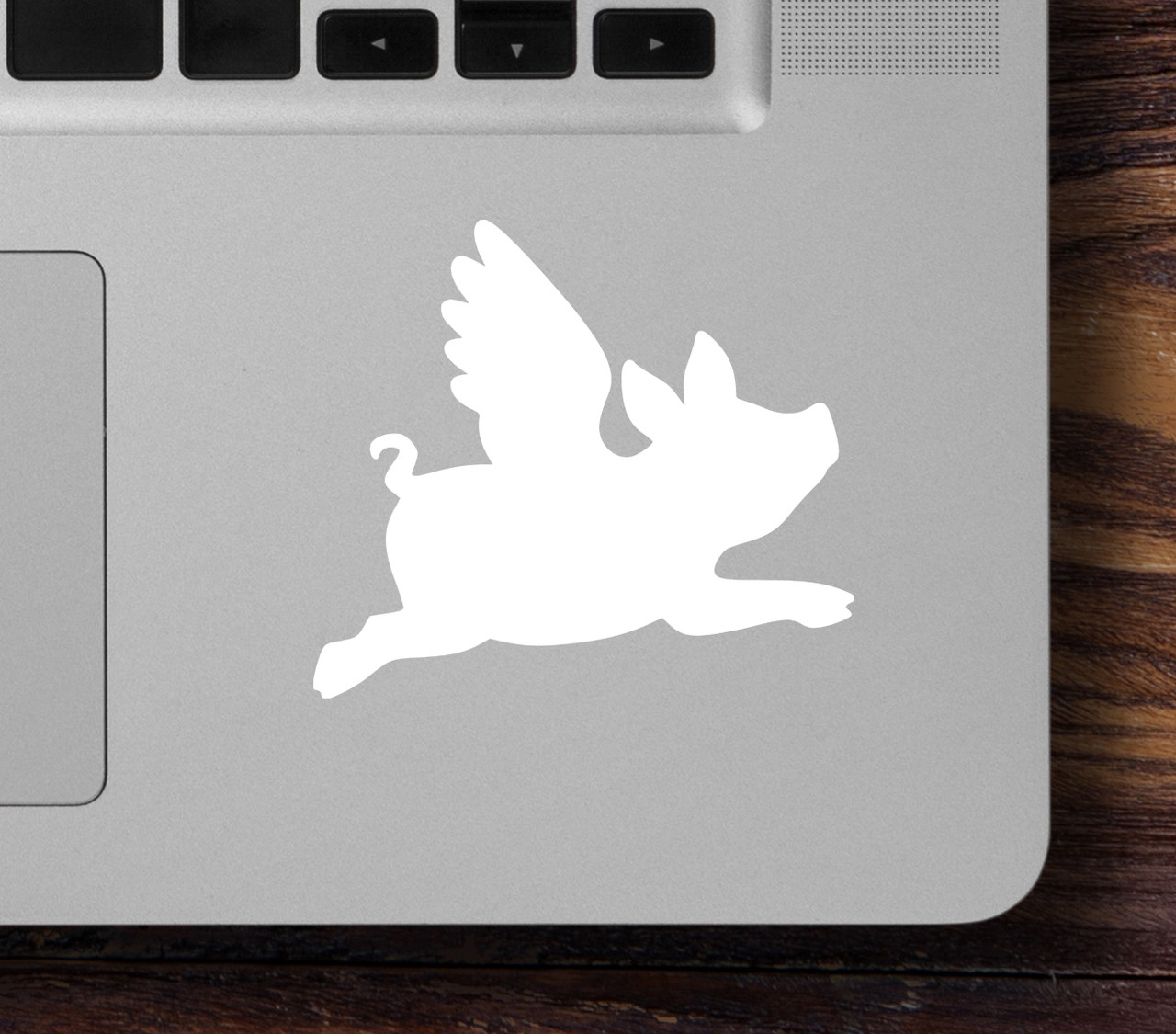 "2x FLYING PIG 2.5"" x 2.25"" Vinyl Decal Stickers - Wings - When Pigs Fly"