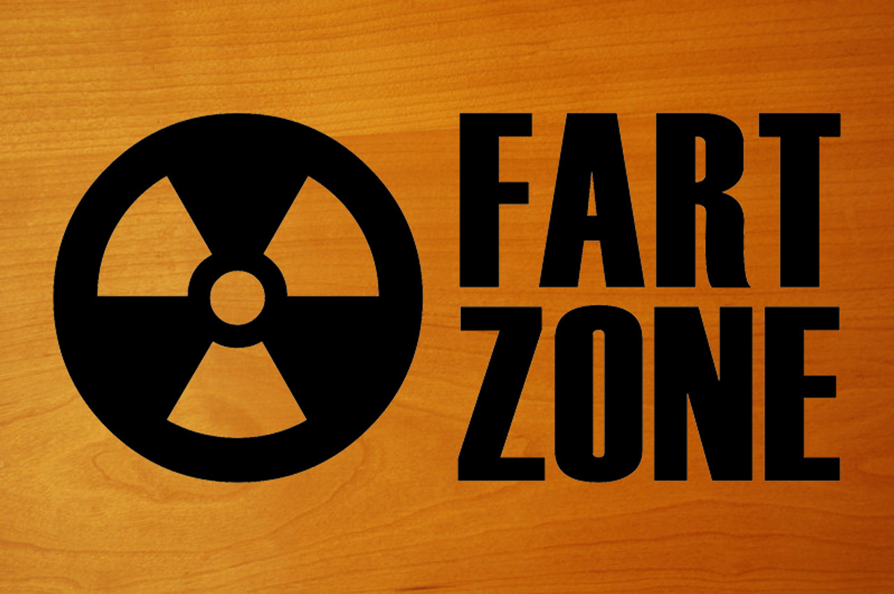 "FART ZONE 6.5"" x 3"" Vinyl Decal Sticker   - 20 Color Options"