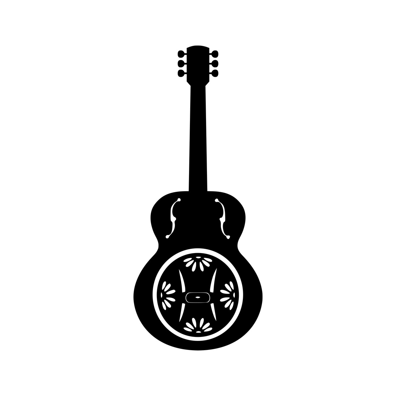 Dobro  Vinyl Decal - Guitar Bluegrass Country Music - Die Cut Sticker