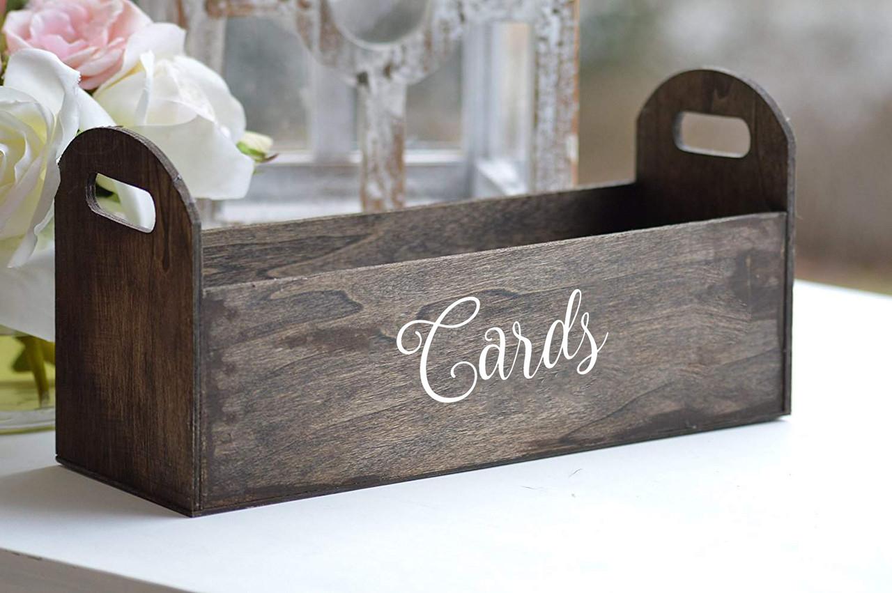 CARDS Vinyl Sticker - V2 - Wedding Gifts Box Label - Die Cut Decal