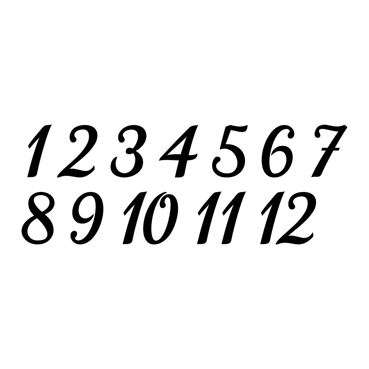 """TABLE NUMBERS 3"""" Vinyl Decal Stickers - Wedding Seating Reception Rehearsal Dinner"""