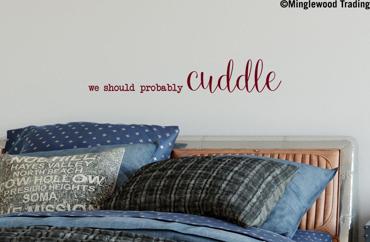 Vinyl Decal Sticker *Free Shipping* We Should Probably Cuddle