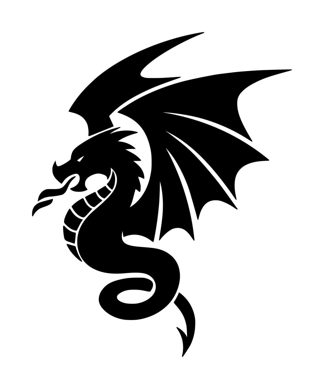FLYING DRAGON Vinyl Decal Sticker -V1- Wyvern Medieval Fantasy Gaming