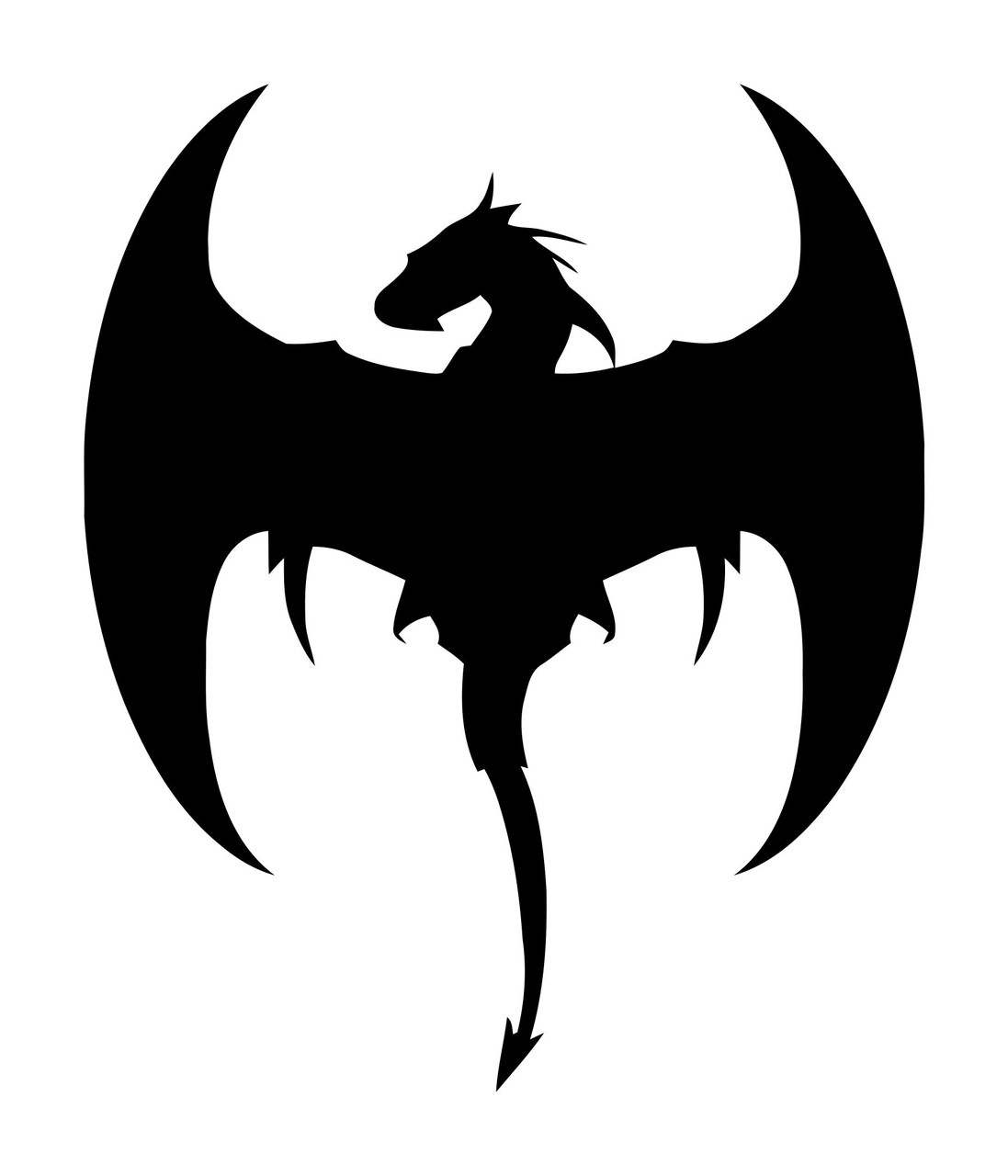 Flying Dragon Vinyl Decal Sticker -V4- Wyvern Fantasy Flying Serpent