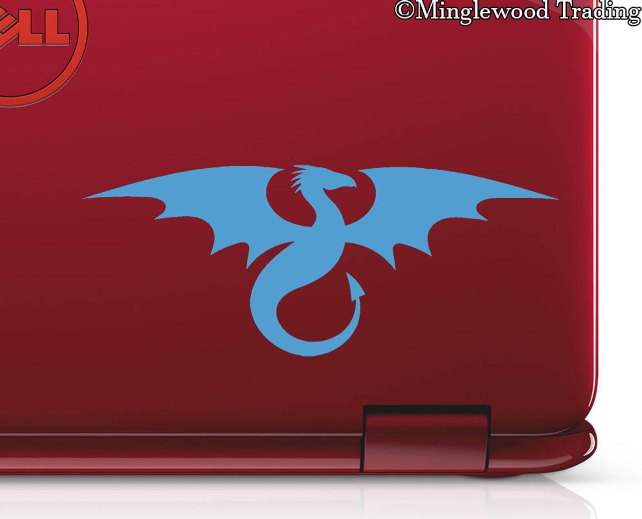 FLYING DRAGON Vinyl Decal Sticker -V3- Wyvern Medieval Fantasy Gaming