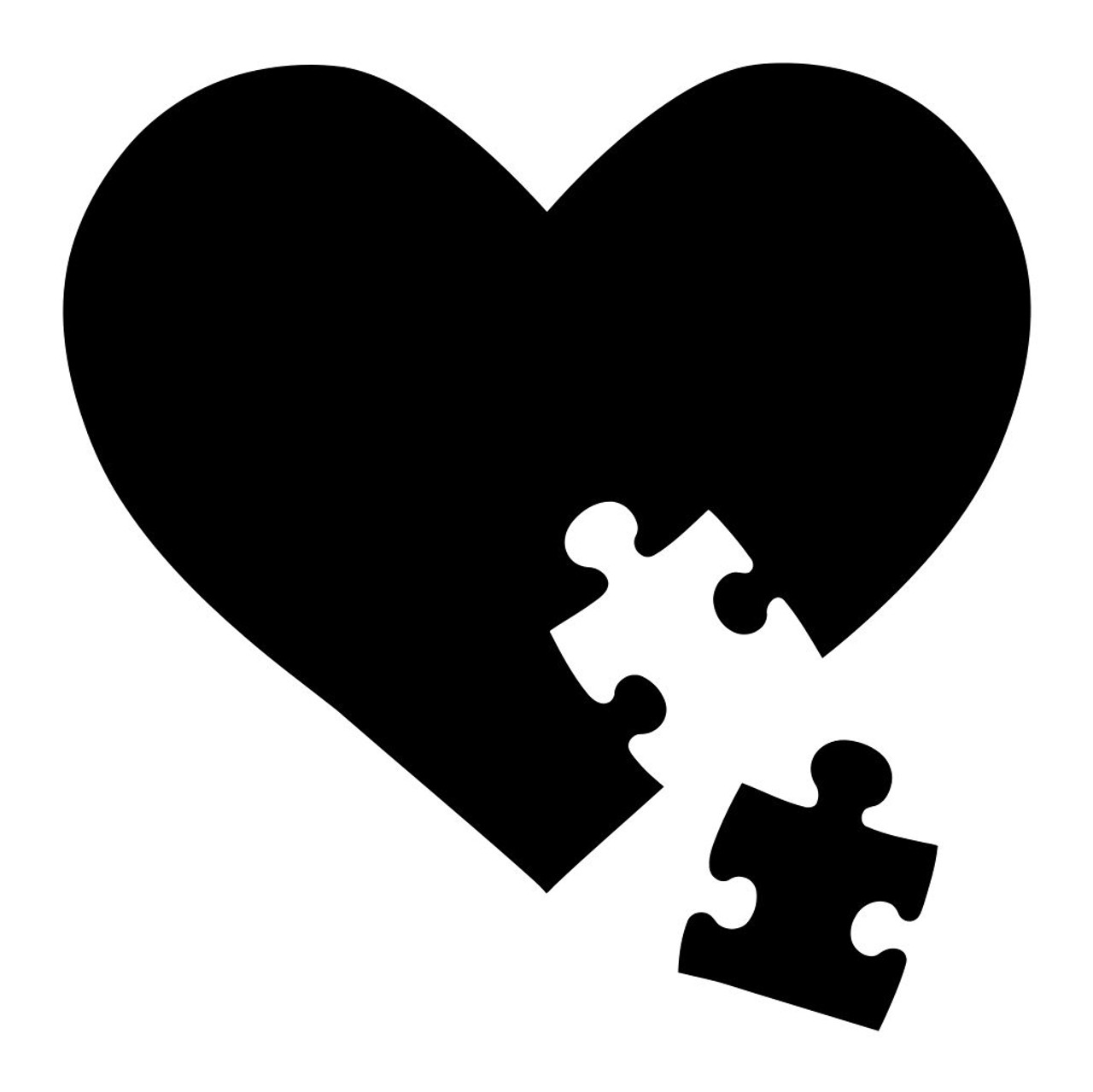 AUTISM AWARENESS V3 Vinyl Decal Sticker - Heart Puzzle Piece ...