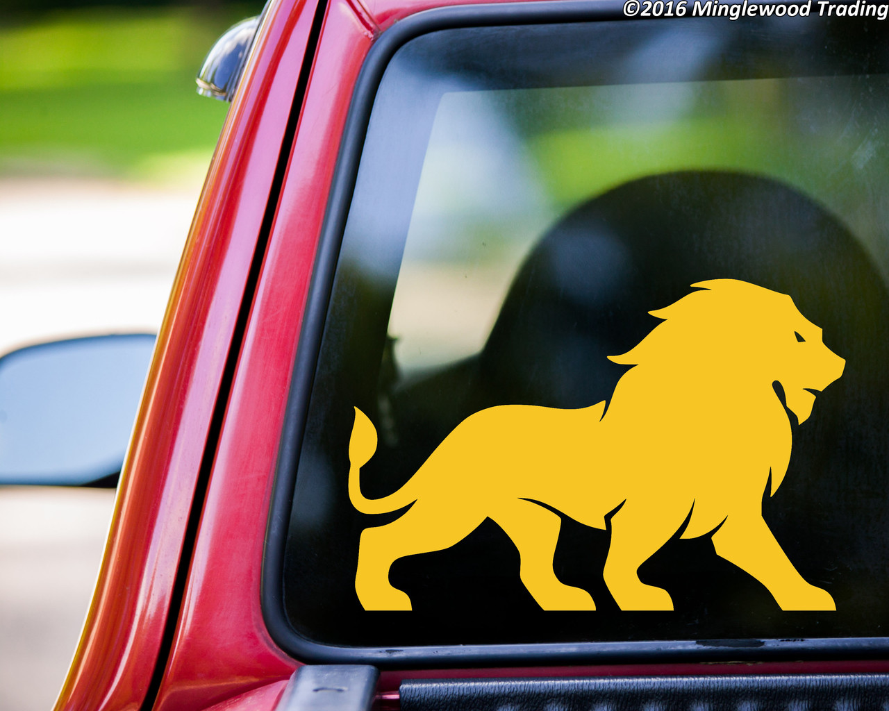 Lion Vinyl Decal V2 - Big Cat King of the Jungle Leo Mane - Die Cut Sticker
