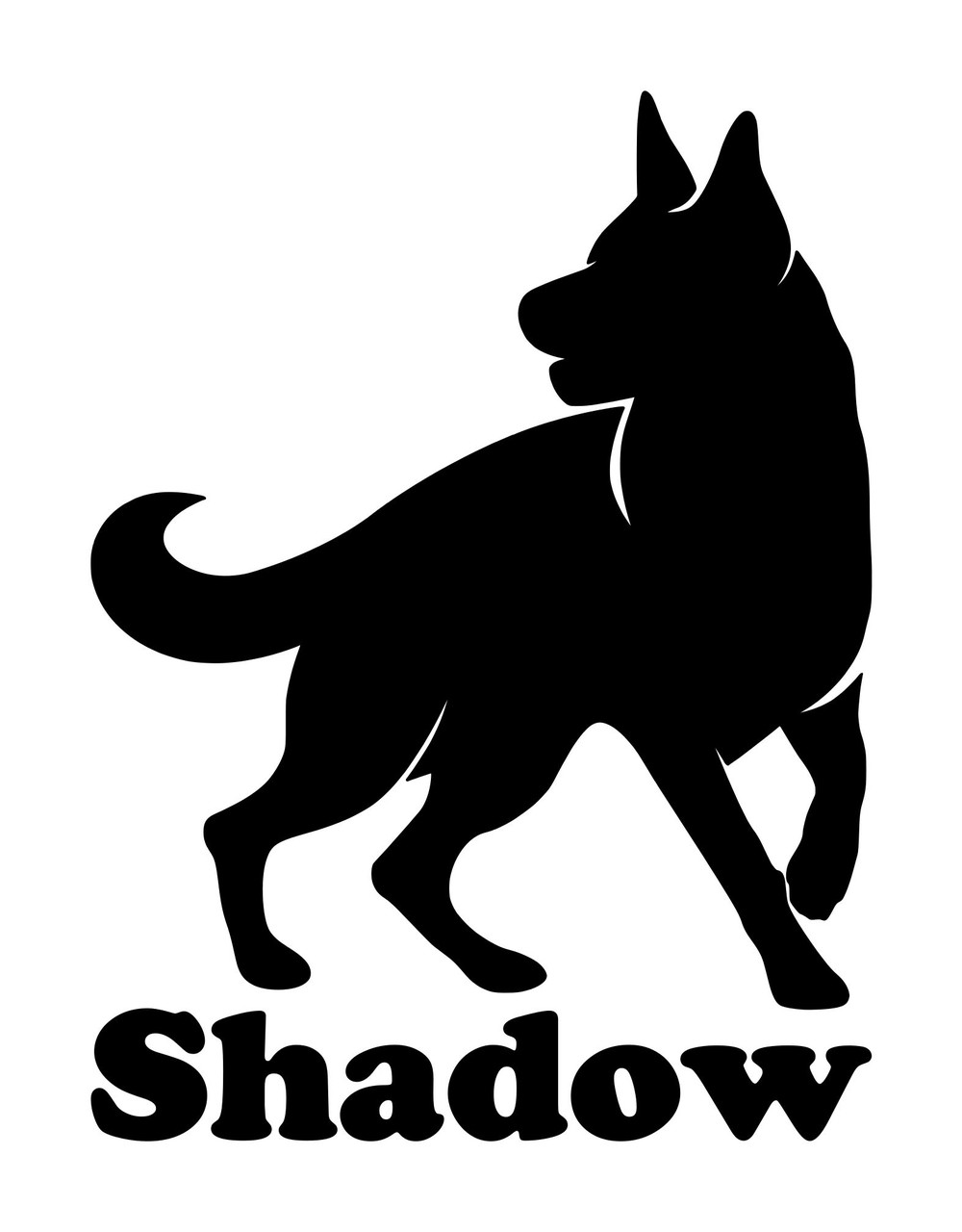 GERMAN SHEPHERD with Personalized Name Vinyl Decal Sticker -V3- Dog GSD Puppy Alsatian