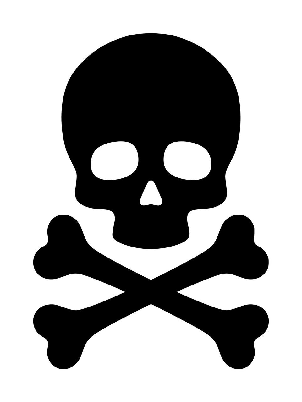 Skull Middle Finger Decal Sticker BUY 2 GET 1 FREE Choose Size /& Color Skeleton