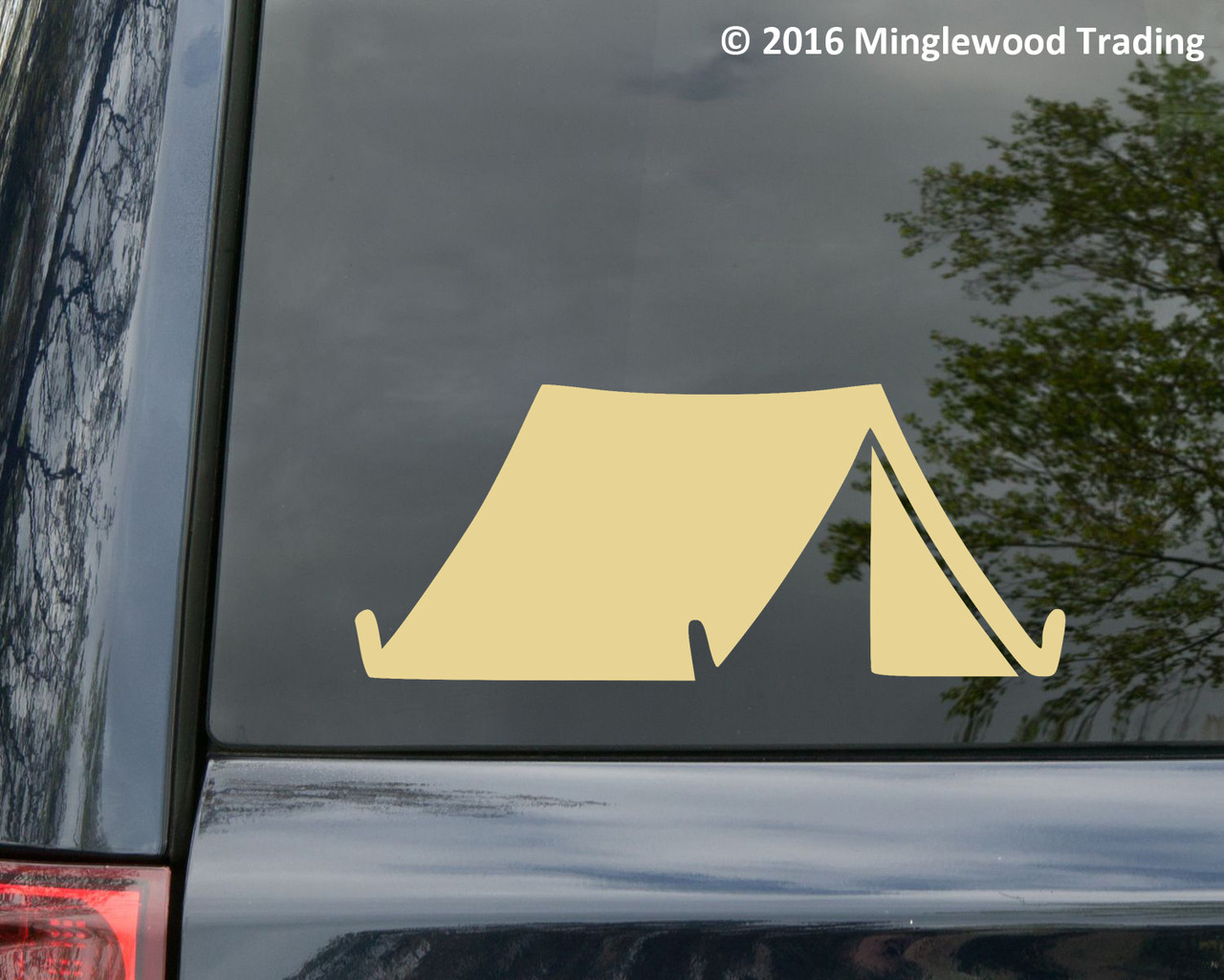 TENT Vinyl Decal Sticker - Camping Outdoors Campground Hiking Camper
