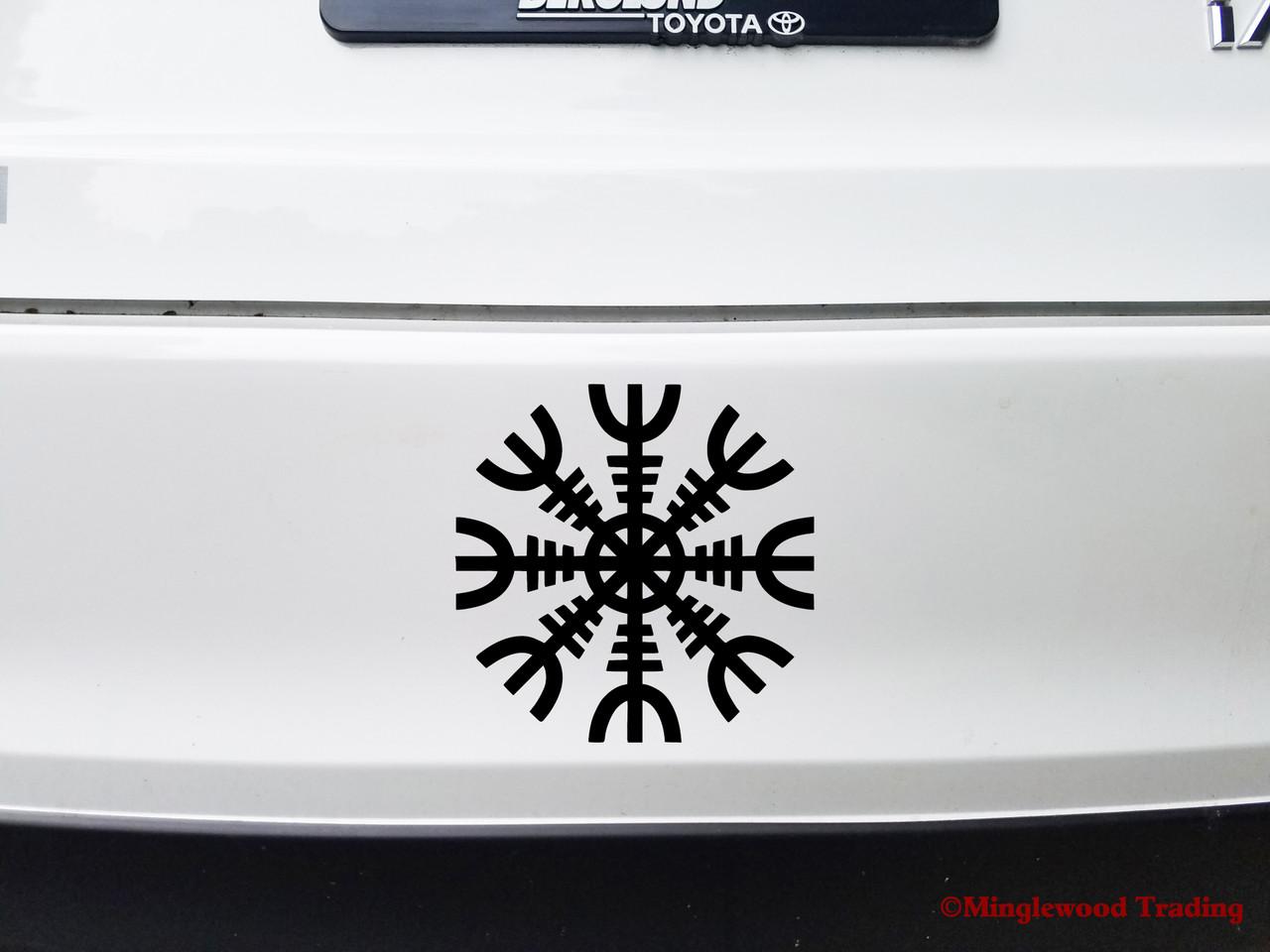 HELM OF AWE Vinyl Sticker - Norse Mythology - Helm of Terror Viking Symbol - Die Cut Decal