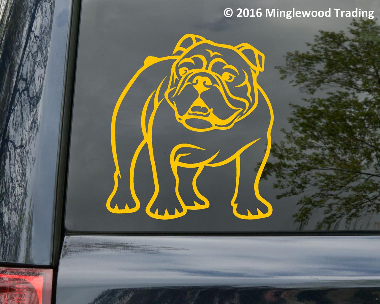 Bulldog vinyl die cut decal by Minglewood Trading