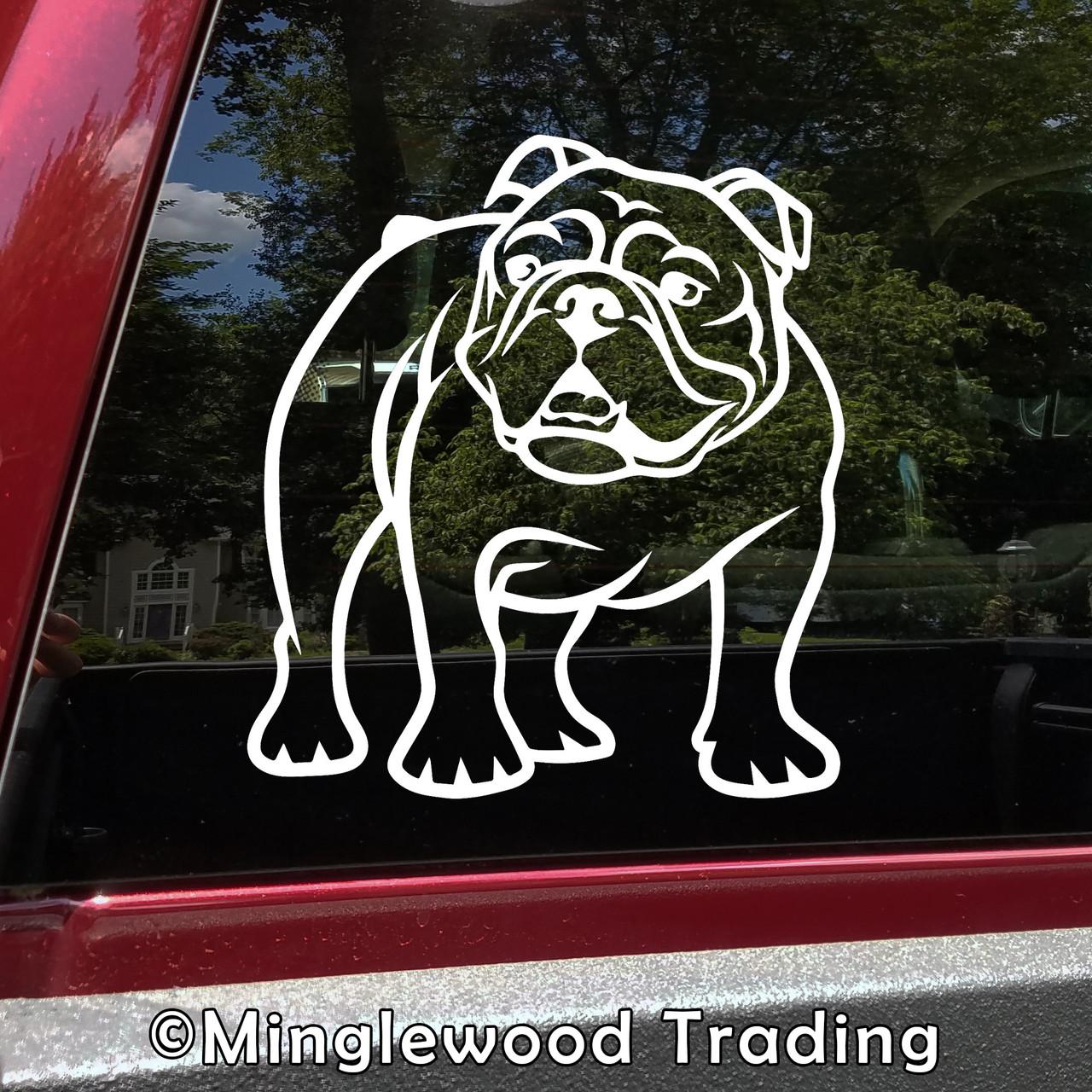Bulldog Vinyl Sticker V3 Olde English Bulldogge Bully Dog Puppy - Die Cut Decal