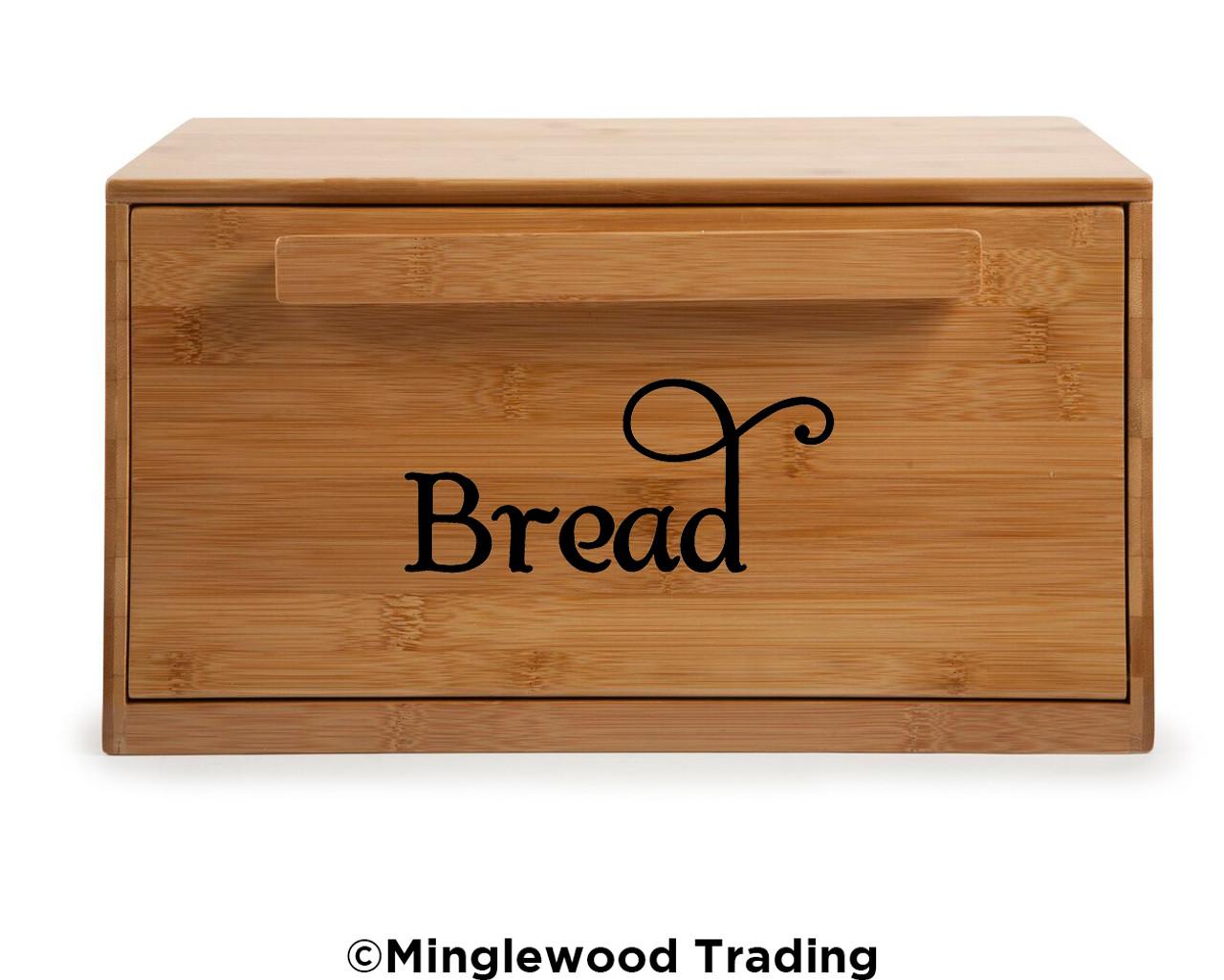 BREAD Vinyl Sticker - Kitchen Breadbox Label - Box Bin - Die Cut Decal - Swash