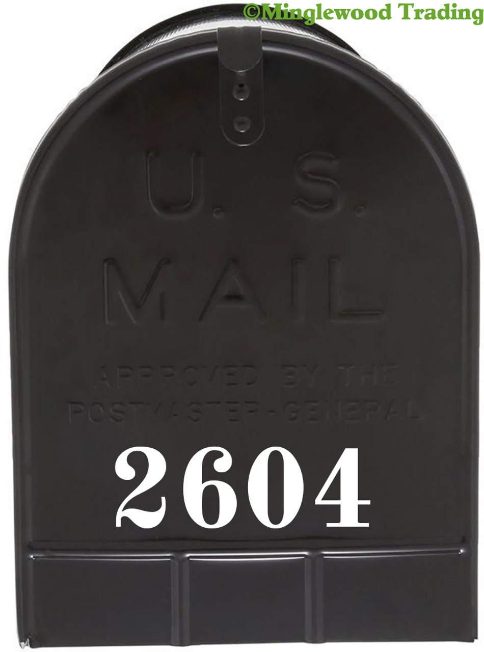 """2 Sets of 1.5"""" Custom Mailbox Numbers - Vinyl Die Cut Decals - 19 Style Choices"""