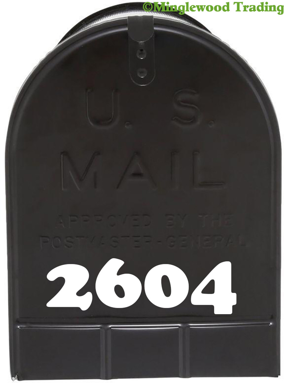 "2 Sets of 2.5"" Custom Mailbox Numbers - Vinyl Die Cut Decals - 19 Style Choices"