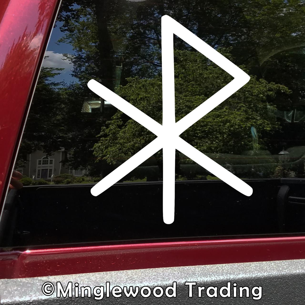 Love Bind Rune Vinyl Sticker - Viking Symbol Glyph Bindrune - Die Cut Decal