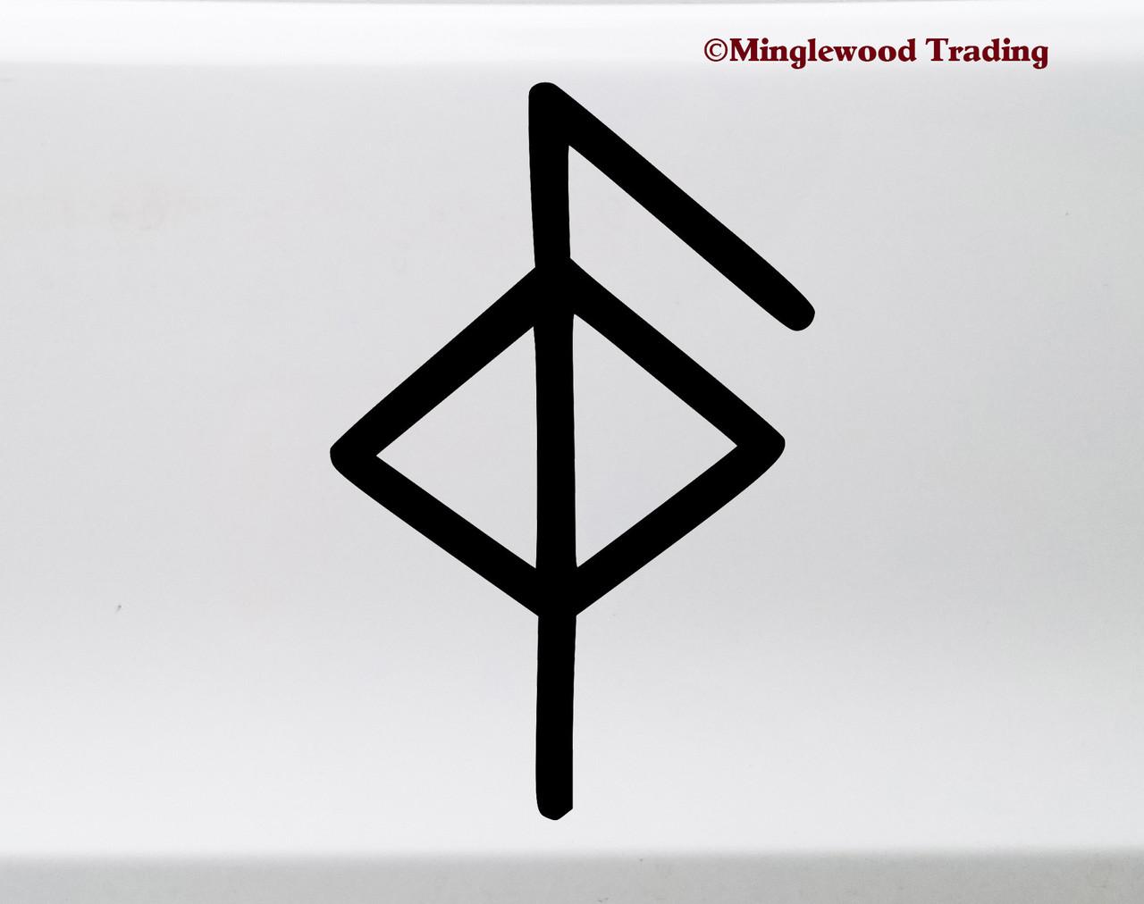 Health Bindrune Vinyl Sticker - Viking Symbol Bind Rune - Die Cut Decal
