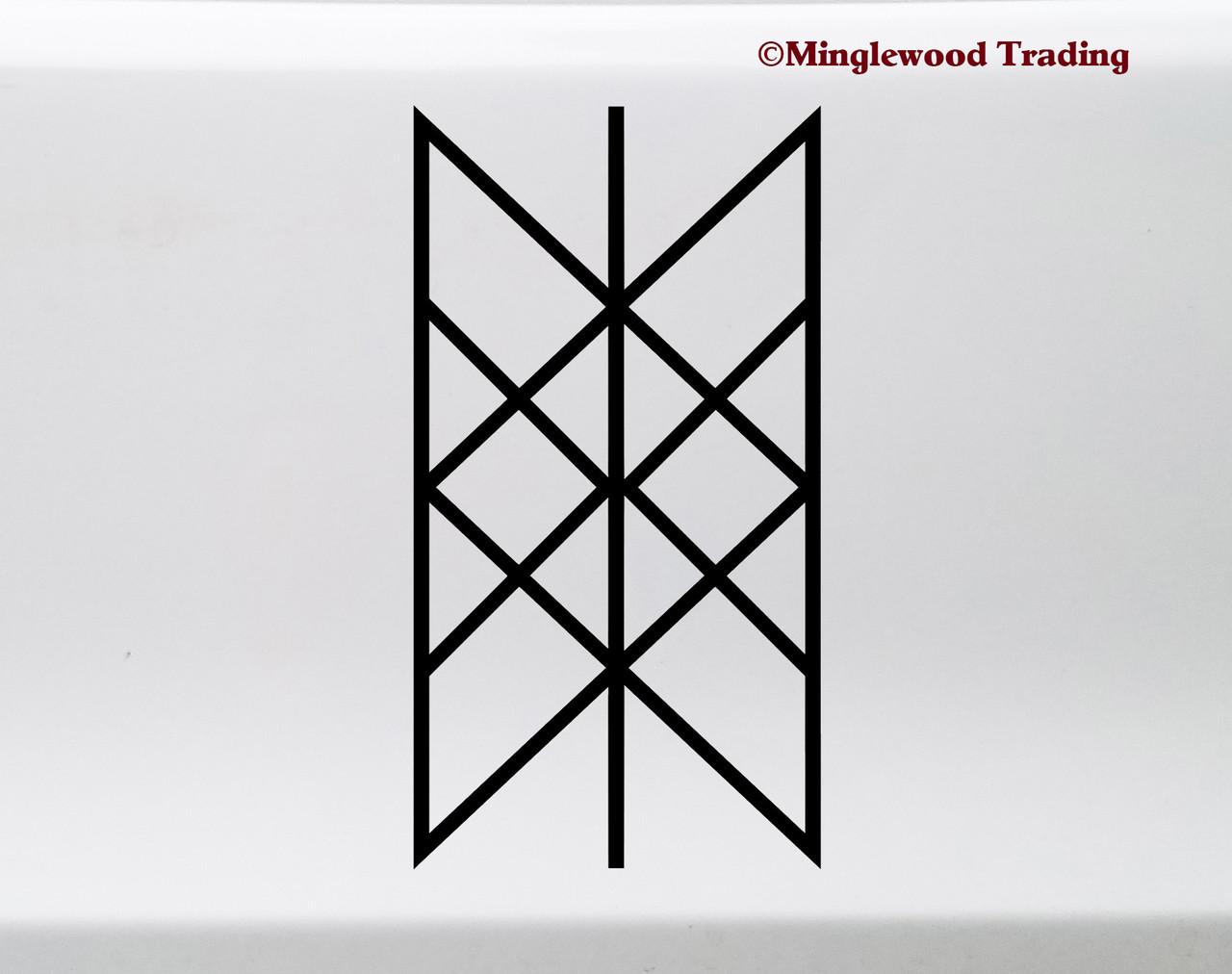 Web of Wyrd Vinyl Sticker - Viking Matrix of Fate Skuld's Net Symbol - Die Cut Decal